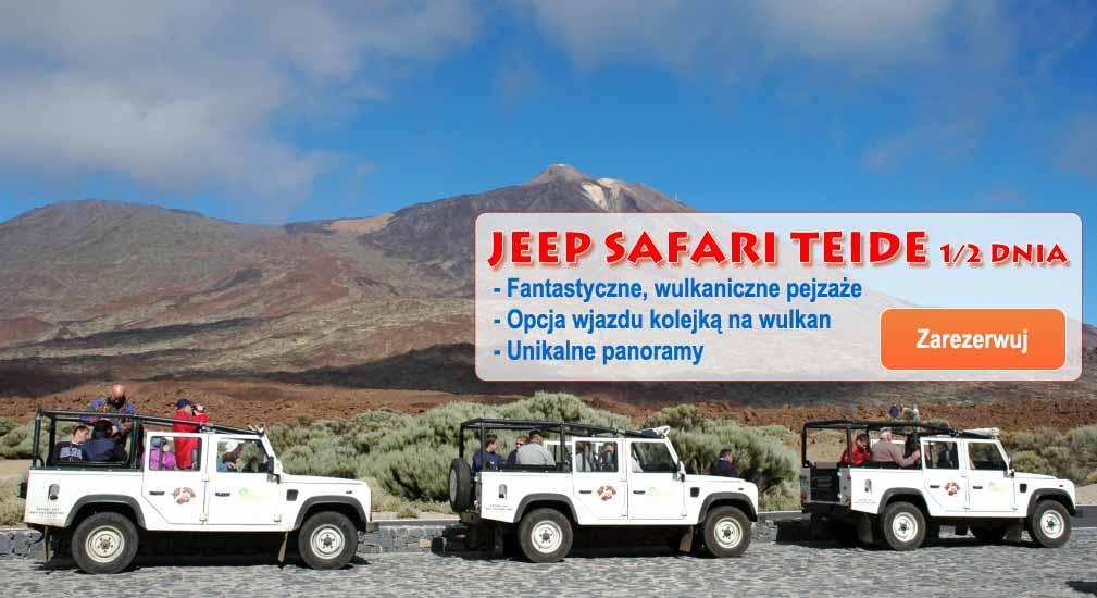 Teneryfa - Wycieczki Jeep Teide 1/2 dnia