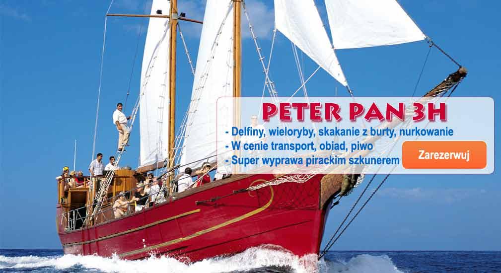 Teneryfa - Wycieczki oceaniczne Peter Pan 3h