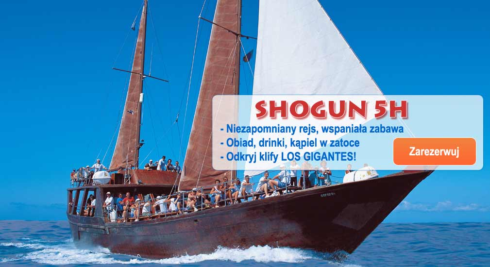 Teneryfa - Wycieczki oceaniczne Shogun 5h